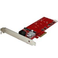 StarTech.com 2x M.2 NGFF SSD RAID Controller Card plus 2x SATA III Ports - PCIe - Two Slot PCI Express M.2 RAID Card plus Two SATA Ports - RAID Supported - 0, 1, 10,