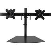 "StarTech.com Dual Monitor Stand - Monitor Mount for Two Displays - Up to 61 cm (24"") Screen Support - 8.16 kg Load Capacity - Plastic, Steel - Black"