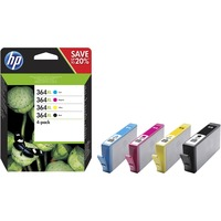 HP 364XL Ink Cartridge - Black, Magenta, Cyan, Yellow - Inkjet - High Yield - 750 Page Yellow, 750 Page Cyan, 550 Page Black, 750 Page Magenta - 4 / Pack