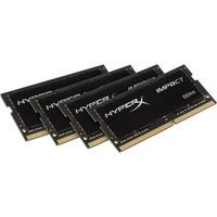 Kingston HyperX Impact RAM Module - 64 GB (4 x 16 GB) - DDR4 SDRAM - 2400 MHz DDR4-2400/PC4-19200 - 1.20 V - Non-ECC - Unbuffered - CL15 - 260-pin - SoDIMM