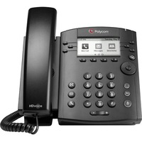 Polycom VVX 301 IP Phone - Cable - Wall Mountable - 6 x Total Line - VoIP - Speakerphone - 2 x Network (RJ-45) - PoE Ports