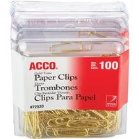 Acco Gold Tone Paper Clips ACC72554