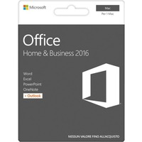 Microsoft Office 2016 Home & Business - Box Pack - 1 Mac - Office Suite - Medialess - Intel-based Mac - English