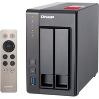 QNAP Turbo NAS TS-251+ 2 x Total Bays SAN/NAS Storage System - Tower - Intel Celeron Quad-core (4 Core) 2 GHz - 2 x HDD Installed - 4 TB Installed HDD Capacity - 2 G