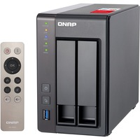 QNAP Turbo NAS TS-251+ 2 x Total Bays SAN/NAS Storage System - Tower - Intel Celeron Quad-core (4 Core) 2 GHz - 2 x HDD Installed - 6 TB Installed HDD Capacity - 2 G