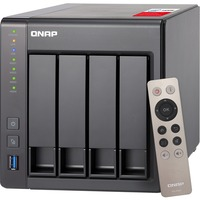 QNAP Turbo NAS TS-451+ 4 x Total Bays SAN/NAS Storage System - Tower - Intel Celeron Quad-core (4 Core) 2 GHz - 4 x HDD Supported - 4 x HDD Installed - 16 TB Install