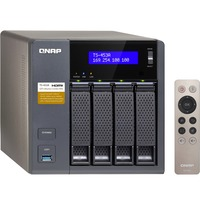 QNAP Turbo NAS TS-453A 4 x Total Bays SAN/NAS Storage System - Tower - Intel Celeron Quad-core (4 Core) 1.60 GHz - 4 x HDD Installed - 16 TB Installed HDD Capacity -