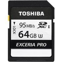 Toshiba Exceria Pro N401 64 GB SDXC - Class 10/UHS-I (U3) - 95 MB/s Read - 75 MB/s Write1 Pack
