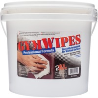 GymWipes Professional Towelettes in a convenient bucket are specially formulated for workout surfaces and kill 99.9 percent of bacteria in 15 seconds. Proven, reliable, nonalcohol-based formula dries fast and easily cleans all kinds of surfaces. It is safe on vinyl, leather, chrome, foam grips, rubber, painted surfaces, metal and even electronic displays. It also neutralizes odors that build up on surfaces. Disinfectant, hygienic, sanitizing wipes are alcohol-free, bleach-free and phenol-free. High sheet count in convenient, refillable bucket means fewer refills.