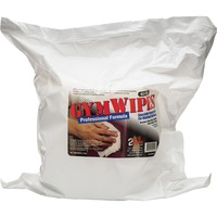 GymWipes Professional Towelettes are specially formulated for workout surfaces and kill 99.9 percent of bacteria in 15 seconds. Proven, reliable, nonalcohol-based formula dries fast and easily cleans all kinds of surfaces. It is safe on vinyl, leather, chrome, foam grips, rubber, painted surfaces, metal and even electronic displays. It also neutralizes odors that build up on surfaces. Disinfectant, hygienic, sanitizing wipes are alcohol-free, bleach-free and phenol-free.