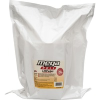"GymWipes Mega Roll kills 99.9 percent of bacteria in 15 seconds. FDA-approved towelettes are phenol-free, alcohol-free and bleach-free. Each large perforated wipe measures 8"" x 8""."