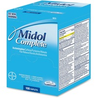 Acme United Midol Complete Pain Reliever Caplets 90751