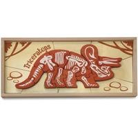 BeginAgain Toys Dinosaur Bones Triceratops Puzzle i1302