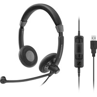Sennheiser Culture Plus SC 75 USB CTRL Wired Stereo Headset - Over-the-head - Supra-aural - Black