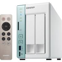 QNAP Turbo NAS TS-251A 2 x Total Bays SAN/NAS Storage System - Desktop - Intel Celeron N3060 Dual-core (2 Core) 1.60 GHz - 2 x HDD Installed - 12 TB Installed HDD Ca