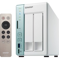QNAP Turbo NAS TS-251A 2 x Total Bays SAN/NAS Storage System - Desktop - Intel Celeron N3060 Dual-core (2 Core) 1.60 GHz - 12 TB Installed HDD Capacity - 2 GB RAM DD
