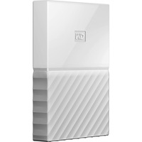 WD My Passport WDBYNN0010BWT-WESN 1 TB External Hard Drive - Portable - USB 3.0 - White