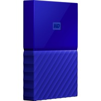 WD My Passport WDBYFT0030BBL-WESN 3 TB External Hard Drive - Portable - USB 3.0 - Blue - 256-bit Encryption Standard
