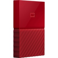 WD My Passport WDBYNN0010BRD-WESN 1 TB External Hard Drive - Portable - USB 3.0 - Red
