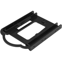 "StarTech.com 2.5in SSD/HDD Mounting Bracket for 3.5-in. Drive Bay - Tool-less Installation - 1 x Total Bay - 1 x 2.5"" Bay - Serial ATA, IDE, PCI Express, SAS - Plast"