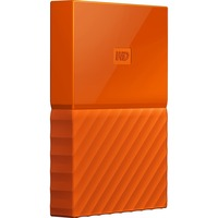 WD My Passport WDBYNN0010BOR-WESN 1 TB External Hard Drive - Portable - USB 3.0 - Orange