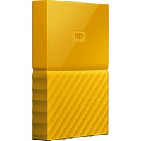 WD My Passport WDBYNN0010BYL-WESN 1 TB External Hard Drive - Portable - USB 3.0 - Yellow