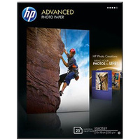 HP Q8696A Photo Paper - 130 mm x 180 mm - Glossy - 25 x Sheet