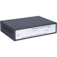 HPE OfficeConnect 1420 5G 5 Ports Ethernet Switch - 2 Layer Supported - Twisted Pair - 1U High - Rack-mountable, Desktop