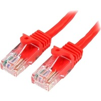 StarTech.com 5m Red Cat5e Patch Cable with Snagless RJ45 Connectors - Long Ethernet Cable - 5 m Cat 5e UTP Cable - First End: 1 x RJ-45 Male Network - Second End: 1