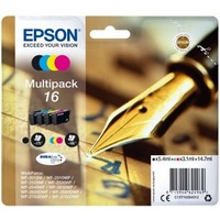 Epson Ink Cartridge - Black, Cyan, Magenta, Yellow - Inkjet - Standard Yield - 495 Pages - 4 / Pack
