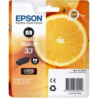 Epson Claria 33 Original Ink Cartridge - Photo Black - Inkjet - 200 Pages - 1 Pack