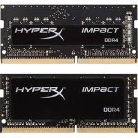 Kingston HyperX Impact RAM Module - 16 GB (2 x 8 GB) - DDR4 SDRAM - 2666 MHz DDR4-2666/PC4-21300 - 1.20 V - Non-ECC - Unbuffered - CL15 - 260-pin - SoDIMM