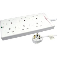 NEWlink Power Strip - 6 x AC Power - 2 m Cord - 13 A Current - White