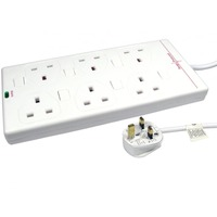 NEWlink Power Strip - 6 x AC Power - 5 m Cord - 13 A Current - White