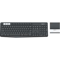 Logitech K375s Keyboard - Wireless Connectivity - Bluetooth/RF - Graphite