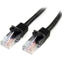 StarTech.com 10m Black Cat5e Patch Cable with Snagless RJ45 Connectors - Long Ethernet Cable - 10 m Cat 5e UTP Cable - First End: 1 x RJ-45 Male Network - Second End