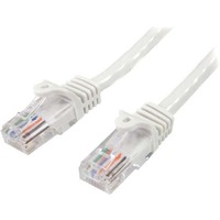 StarTech.com 7m White Cat5e Patch Cable with Snagless RJ45 Connectors - Long Ethernet Cable - 7 m Cat 5e UTP Cable - First End: 1 x RJ-45 Male Network - Second End: