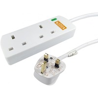 NEWlink Power Strip - 2 x AC Power - 3 m Cord - White