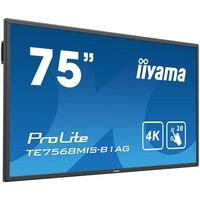 "iiyama ProLite TE7568MIS-B1AG  74.5"" LCD Touchscreen Monitor - 16:9 - 8 ms"