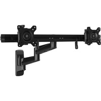 StarTech.com Wall Mount Dual Monitor Arm - Articulating - Dual Monitor Wall Mount - For Two 15inch to 24inch Monitors - VESA Mount - Steel - 2 Displays Supported61 cm Sc