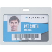 Advantus Horizontal Rigid ID Badge Holder AVT97063