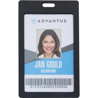 Advantus Vertical Rigid ID Badge Holder AVT97068