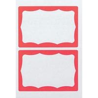 Advantus Color Border Adhesive Name Badges AVT97189