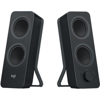 Logitech Z207 Speaker System - 5 W RMS - Wireless Speakers - Desktop - Black - Bluetooth - Wireless Audio Stream, Passive Radiator