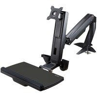 StarTech.com Sit Stand Monitor Arm - Monitor Arm Desk Mount - Sit Stand Workstation - for up to 24in Monitors - VESA Mount - Height Adjustable - 1 Display(s) Support