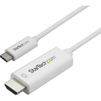 StarTech.com 1m / 3 ft USB C to HDMI Cable - Computer Monitor Cable - 4K at 60Hz - White - Eliminate clutter by connecting your USB Type-C computer directly to an HD