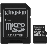 Kingston Canvas Select 32 GB microSDHC - Class 10/UHS-I (U1) - 80 MB/s Read - 10 MB/s Write