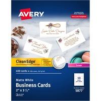 AveryR Clean Edge Laser Print Business Card