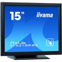 iiyama ProLite T1531SR-B5 38.1 cm 15inch LCD Touchscreen Monitor - 4:3 - 8 ms - 5-wire Resistive - 1024 x 768 - XGA - 700:1 - 370 cd/mAnd#178; - LED Backlight - Speaker