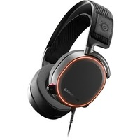 SteelSeries Arctis Pro Wired 40 mm Stereo Gaming Headset - Over-the-head - Circumaural - Black, White